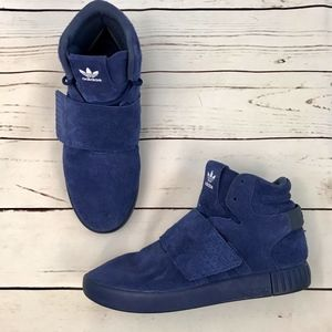 Adidas | Tubular Invader Strap Sneakers in Blue